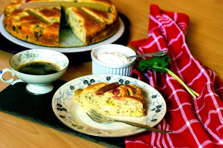 vegan fruit pound cake rhubarb- vegan