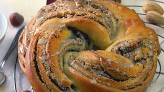 German vegan braided nut bread