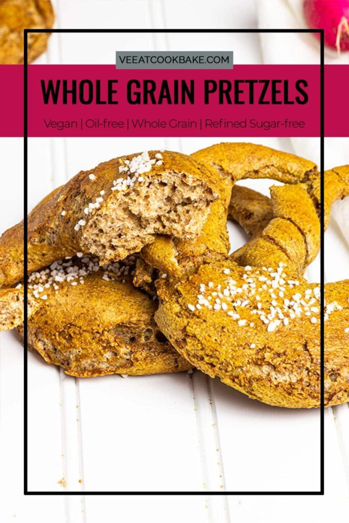 Homemade Whole Grain Pretzels with Spelt or Wheat and Tahini