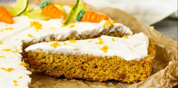 Veganer Mandel Karottenkuchen