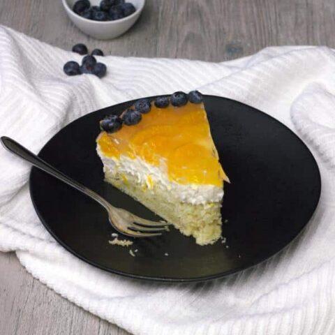 Vegan Cheesecake with Mandarin Jello