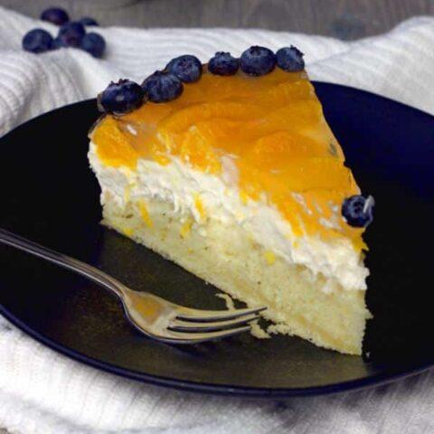 Veganer Mandarinen-Käse-Sahne-Kuchen