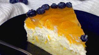 Vegan Mandarin Oranage Cream Cheesecake (raw)
