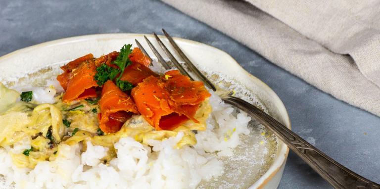 vegan savoy cabbage and carrot lox