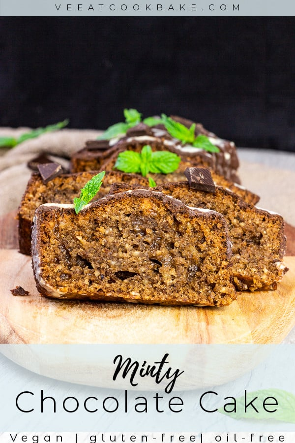 vegan mint chocolate cake