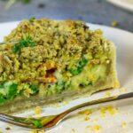 Vegan garden veggie quiche oilfree