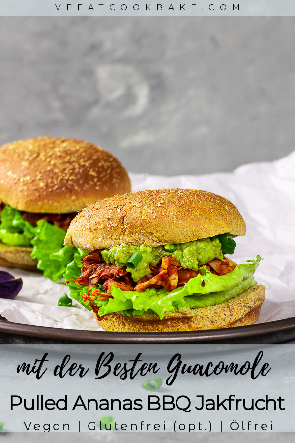 veganes pulled pork sandwich mit Ananas