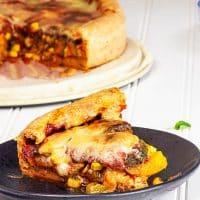 Vegan Chicago Style Deep Dish Pizza