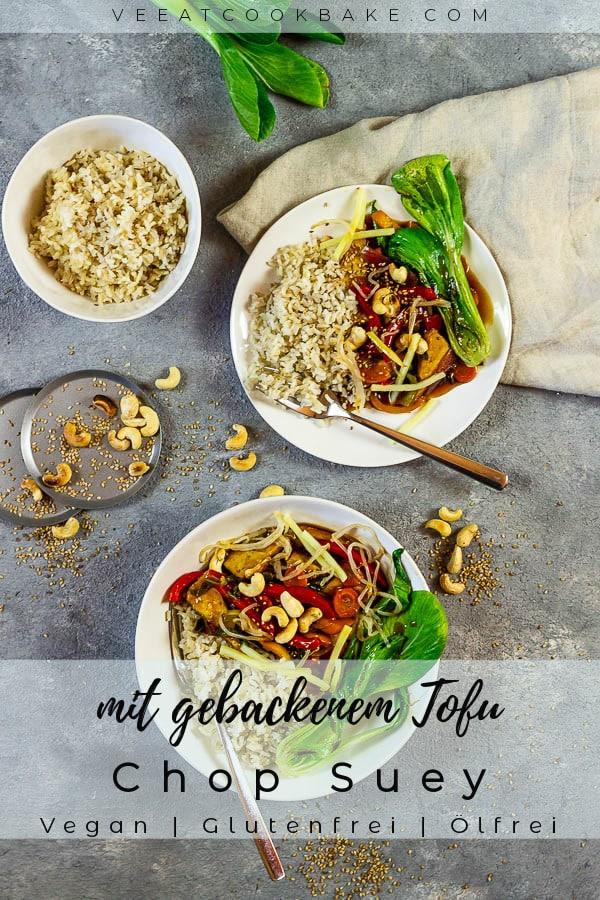 veganes chop suey mit tofu und gemüse