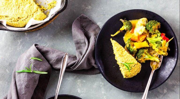 Savory Vegan Cornbread and southwestern veggie bake