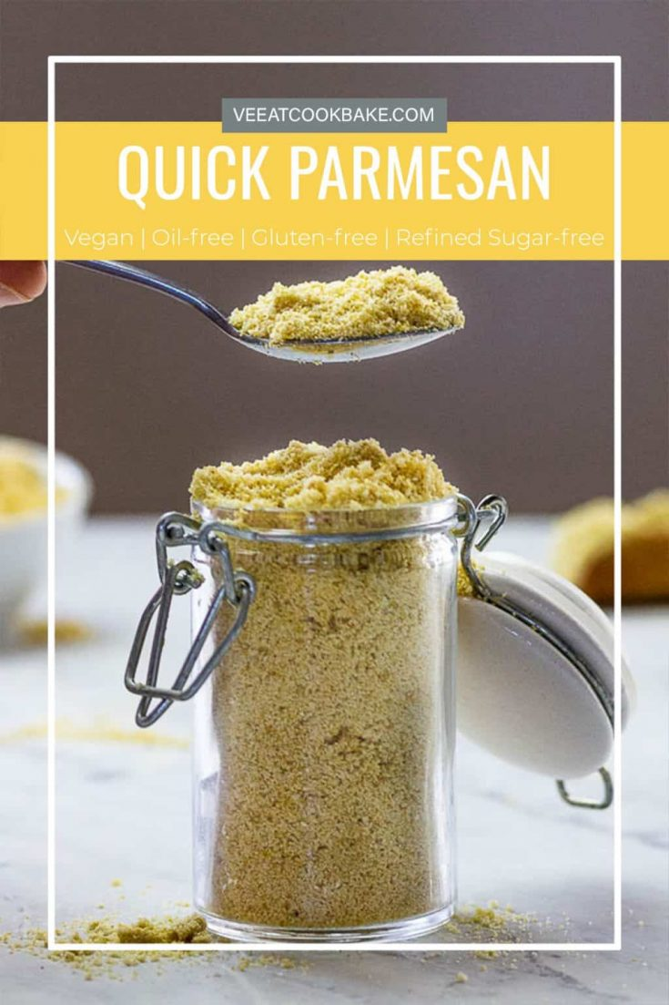 With this vegan Parmesan, it's not just a quickly made recipe. This Parmesan alternative tastes authentic and has that typical cheesy taste. This vegan cheese lasts a long time and is a lot cheaper than the traditional Parmesan cheese.