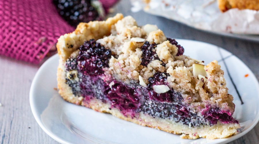 Vegan Blackberry Poppy Seed Crumb Cake