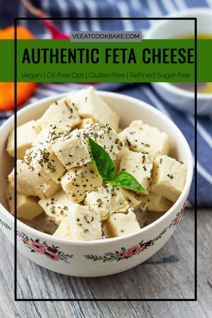 pin for vegan feta cheese