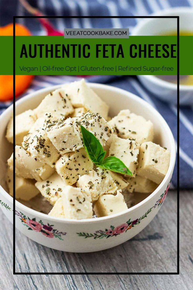 This vegan Feta Cheese brings the vegan cheese replacemant to hole new level. With two special ingredients you get this creamy, crumby and tangy vegan Feta cheese. You can use this vegan cheese as you woould use the real Feta. vegan | plantbased | dairyfree |sugarfree Vegan Dinner | Vegan Lunch | Vegan Salad | Cheese Alternative | herbs | healthy |nutritional #cheese #vegancheese #fetacheese #lactosefrei #dairyfree #veganrecipes