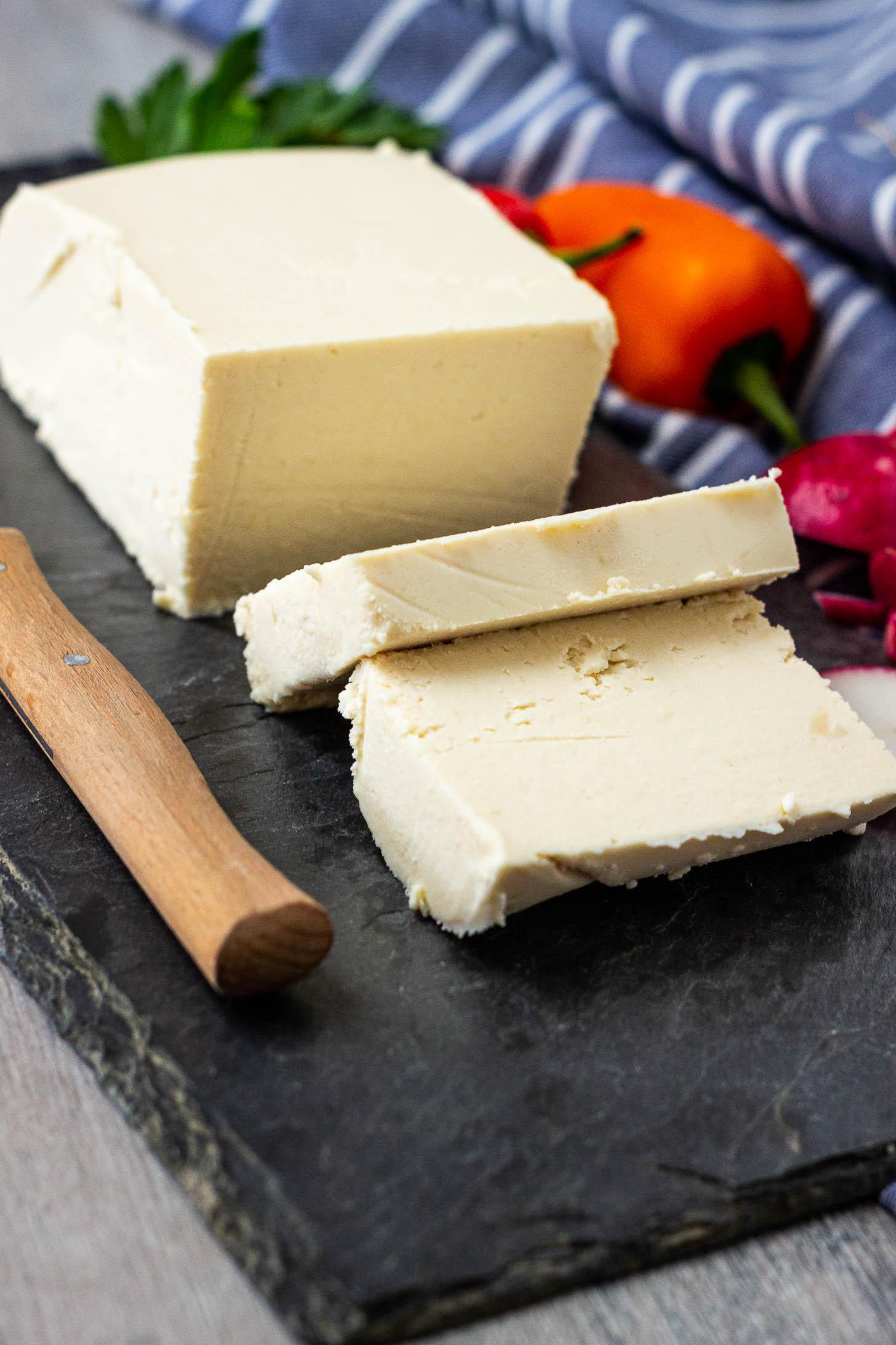 homemade vegan feta cheese