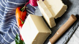 Vegan Feta Cheese , tangy, creamy & crumby like the real Feta