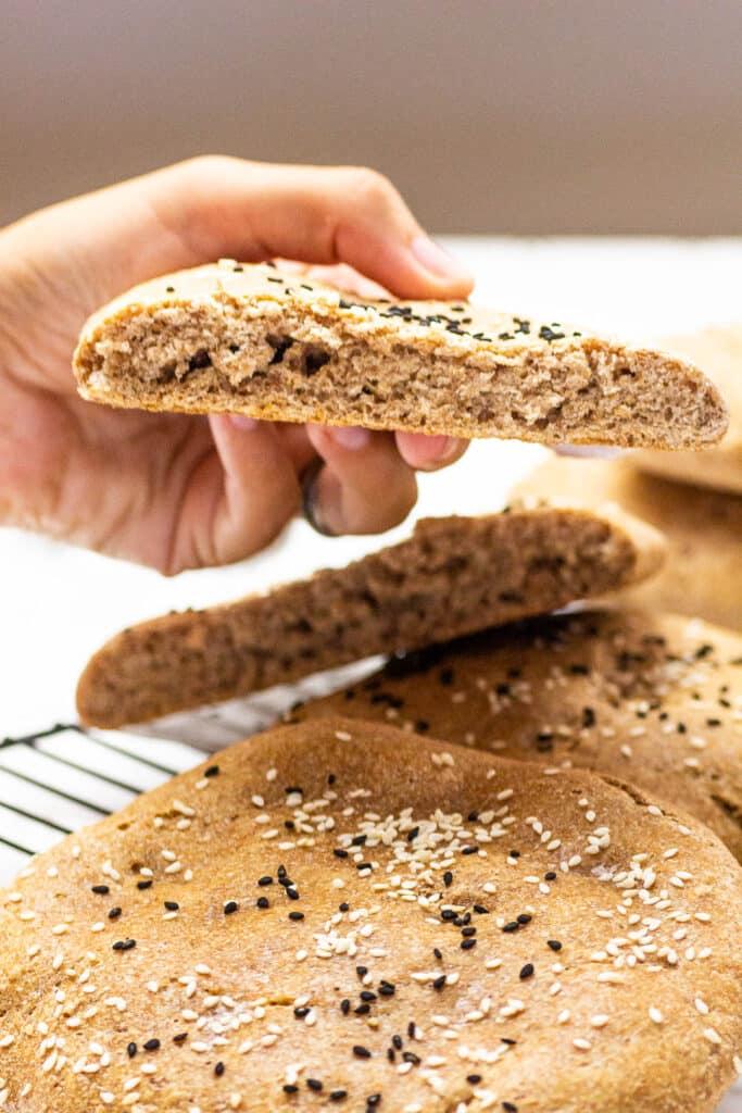 Homemade whole grain flatbread (wfpb)