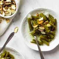 Veganer, Grüner Bohnensalat