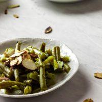 Vegan Green bean salad with oil-free vinegar dressing