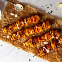 Vegan Grilled Tofu Skewers (oil-free)