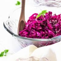 Vegan Red Cabbage Slaw
