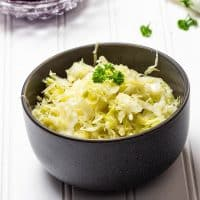 Easy vegan White Coleslaw without Oil