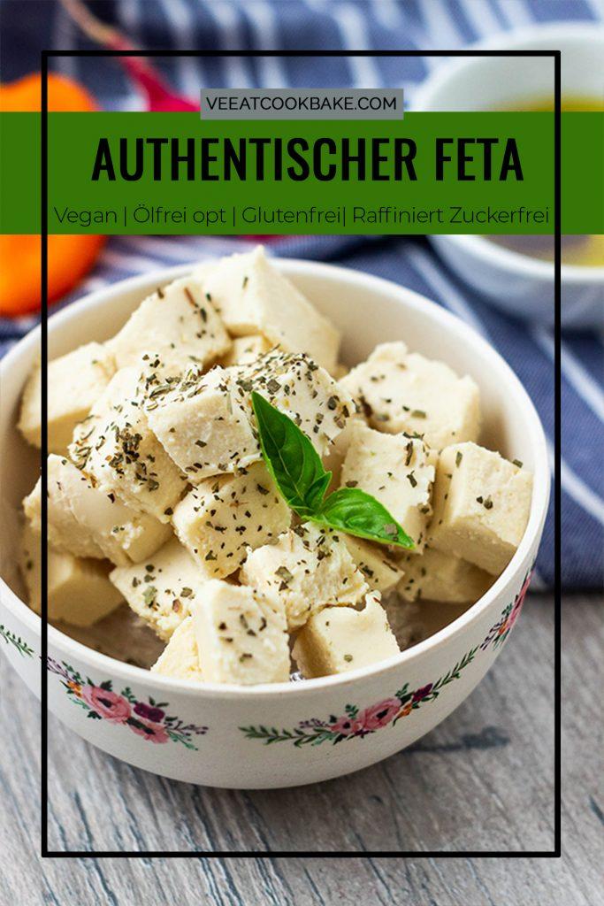 pin für veganen feta käse