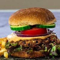 Grillbares Veganes Black Bean Burger-Rezept