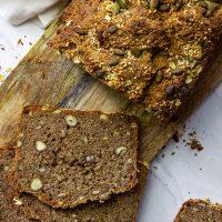 Seed - Nut - Whole Grain Bread with spelt or wheat(vegan, wfpb)