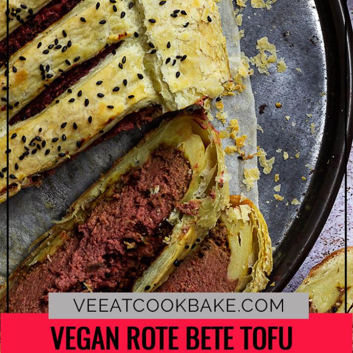 Veganes Filet Wellington mit Rote Bete und Tofu
