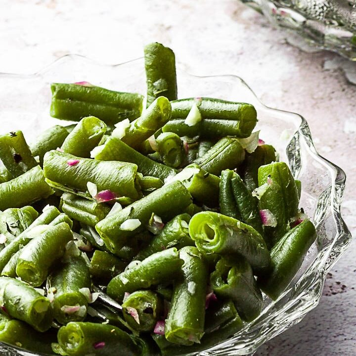 Quick Green Bean Side Dish for Thanksgiving (vegan, oil-free)