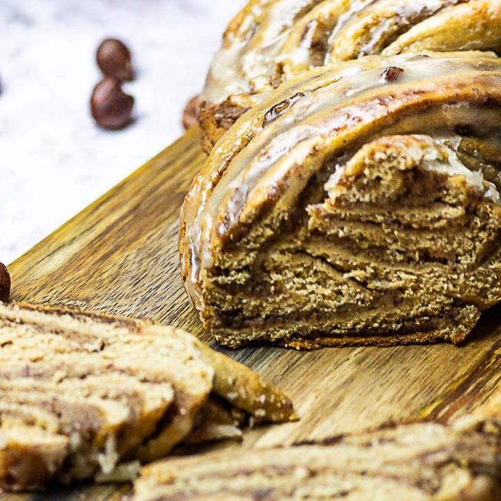 Vegan Nut Babka (Braided Nut Bread)
