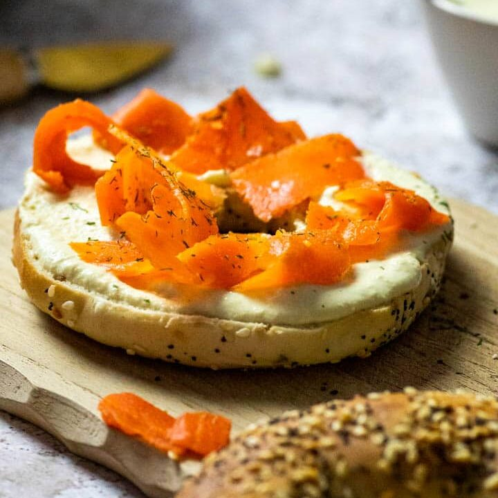 Authentic Vegan Smoked Salmon (Carrot Lox) & Horseradish Dip