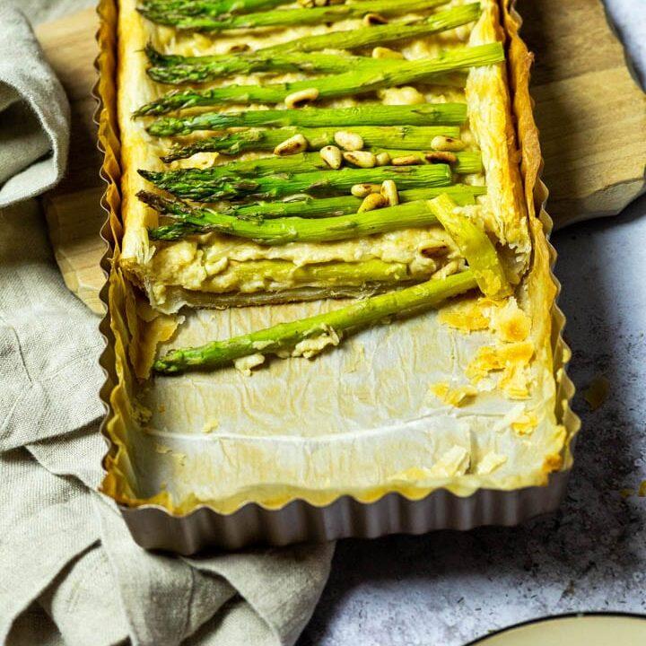 Vegan Asparagus Tart (wfpb opt)