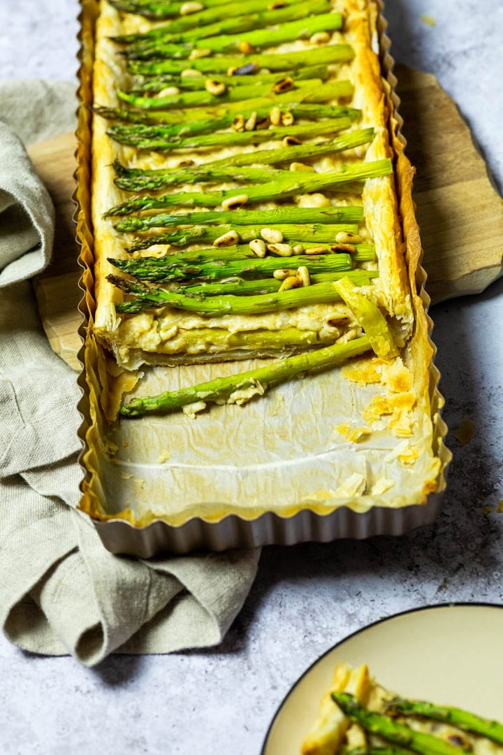Vegan Asparagus Tart Wfpb Opt Ve Eat Cook Bake