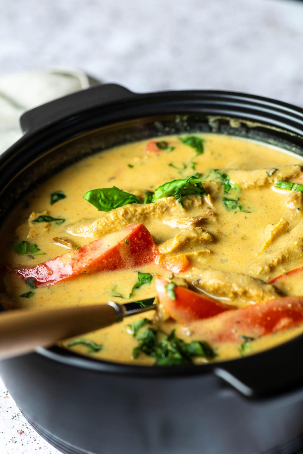 Vegan Gyros Soup Close Up