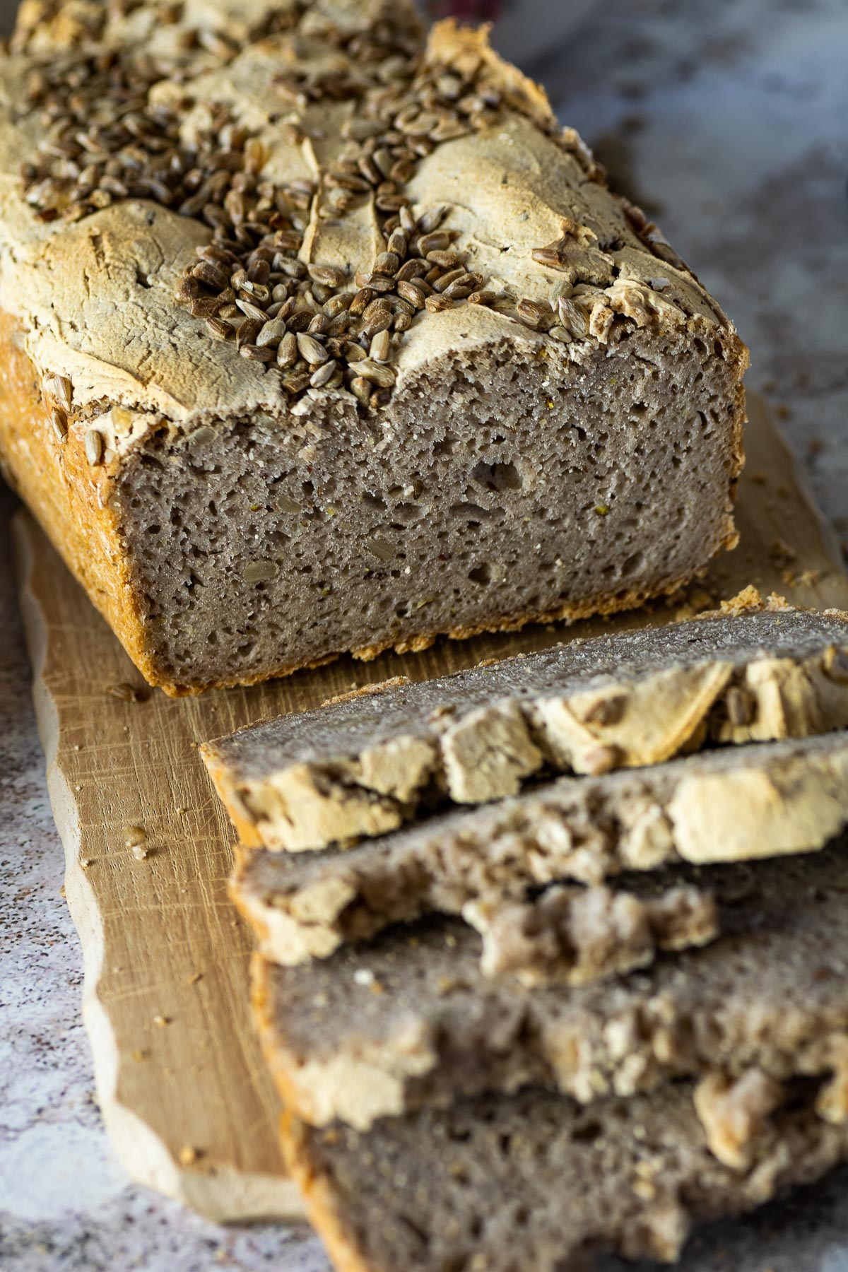 Homemade Buckwheat Bread in focus