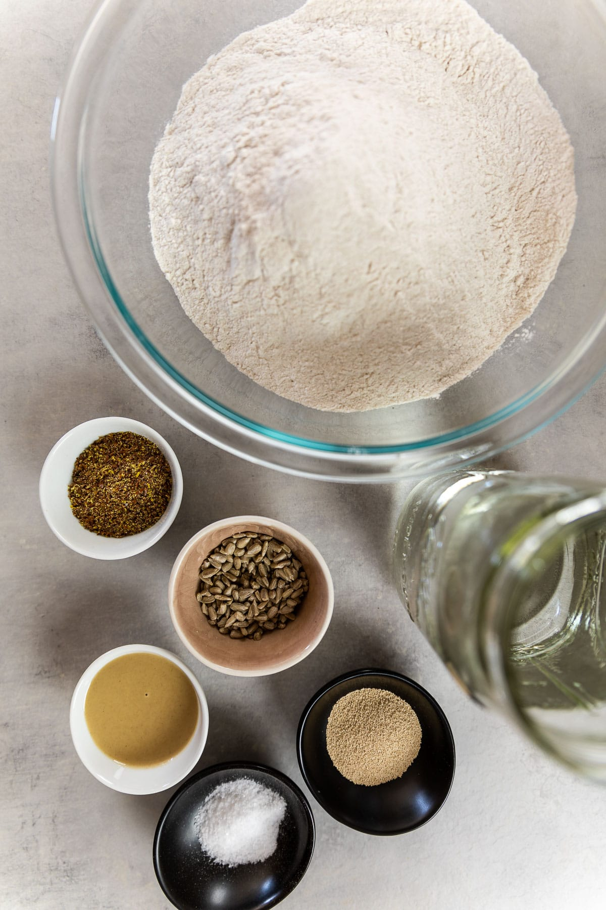 Ingredient Shot for a gluten free buckwheat bread