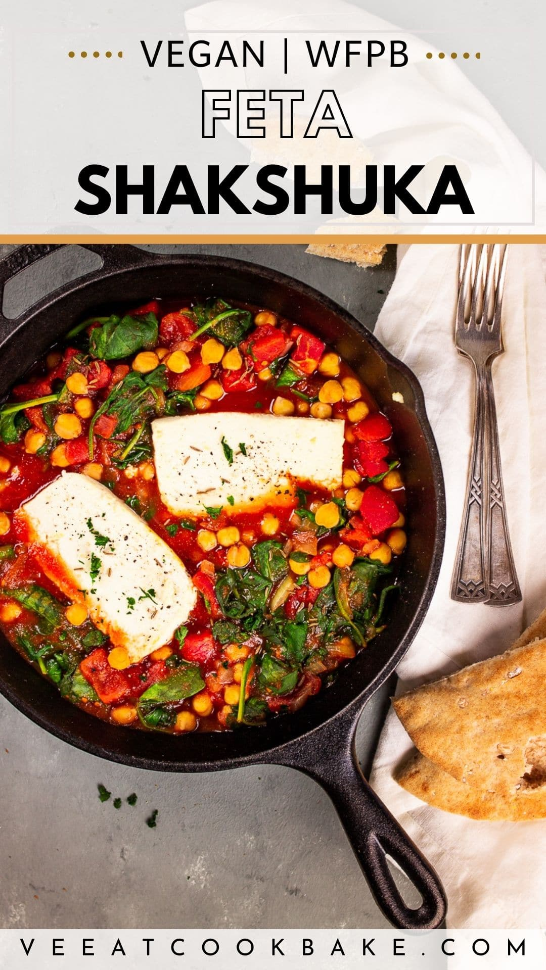 Vegan Shakshuka Pin for Pinterest with Text